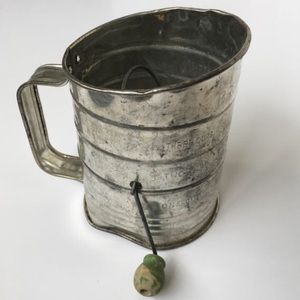 Other - Vintage Galvanized Flour Sifter Farmhouse Rustic